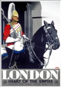London - Heart of the Empire. GWR Vintage Travel Poster by Frank Newbould